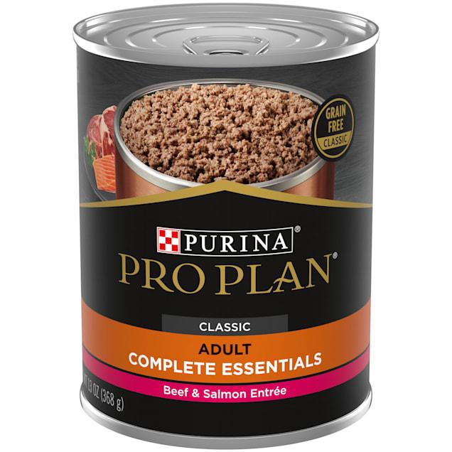 Purina Pro Plan Grain Free, High Protein Savor Classic Beef & Salmon Entree Wet Dog Food, 13 oz., Case of 12 - Carousel image #1