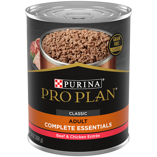 Purina Pro Plan Grain Free, High Protein Savor Classic Beef & Chicken Entree Wet Dog Food, 13 oz., Case of 12 - Carousel image #1