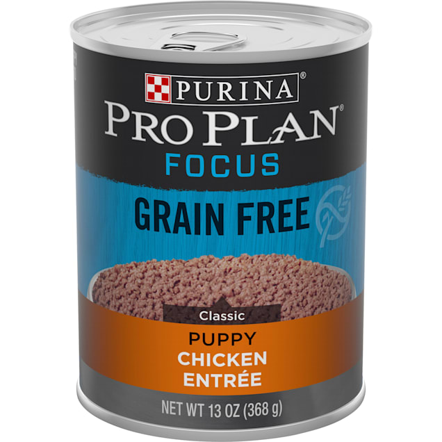 Purina Pro Plan Grain Free, High Protein Focus Classic Chicken Entree Wet Puppy Food, 13 oz., Case of 12 - Carousel image #1