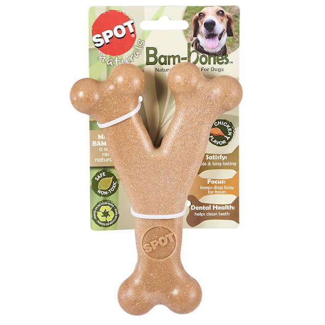 Spot Naturals Bam-bone Wishbone Chicken Flavored Dog Chew Toy, Medium - Carousel image #1