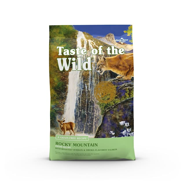 Taste of the Wild Rocky Mountain Grain-Free Roasted Venison & Smoked Salmon Dry Cat Food, 14 lbs. - Carousel image #1