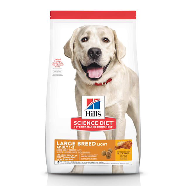 Hill's Science Diet Adult Light Large Breed with Chicken Meal & Barley Dry Dog Food, 30 lbs., Bag - Carousel image #1