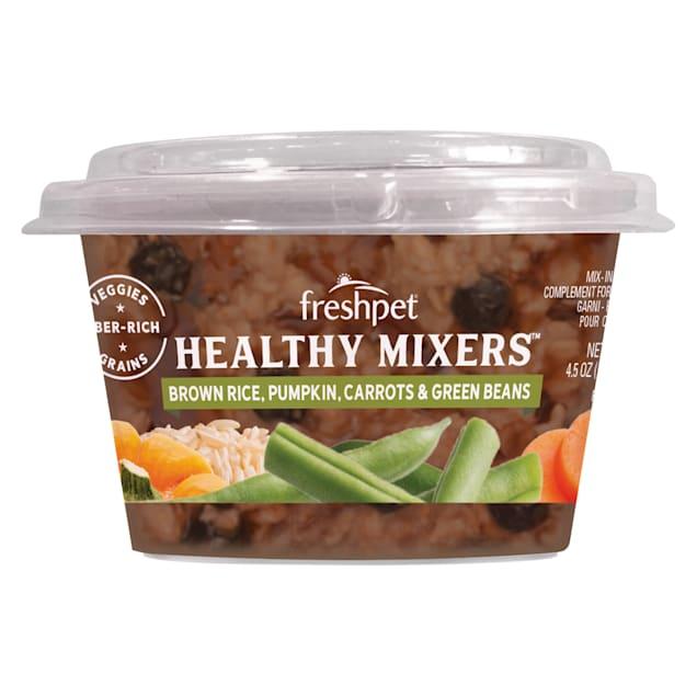 Freshpet Brown Rice, Pumpkin, Carrots & Green Beans Healthy Mixers Wet Dog Food, 4.5 oz. - Carousel image #1