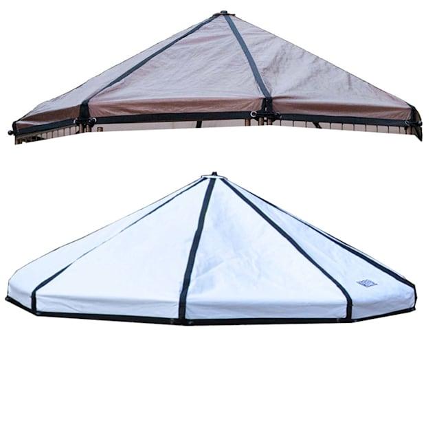 Advantek Pet Gazebo Canopy Brown/White, 5' L - Carousel image #1