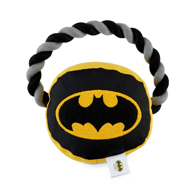 DC Comics Justice League Batman Rope Handle Dog Toy, Small - Carousel image #1