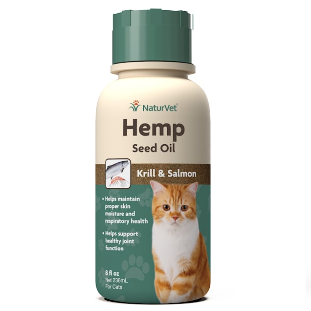 NaturVet Hemp Seed Oil, Krill & Salmon for Cats, 8 fl. oz. - Carousel image #1