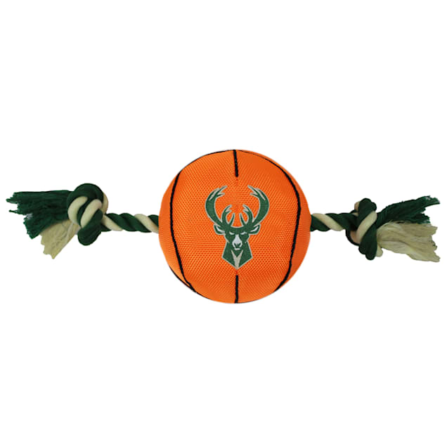 Pets First NBA Milwaukee Bucks Nylon Basketball Rope Toy for Dogs, X-Large - Carousel image #1