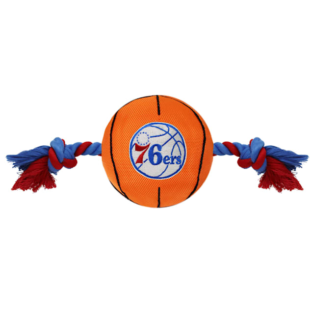 Pets First NBA 76ERS Nylon Basketball Rope Toy for Dogs, X-Large - Carousel image #1