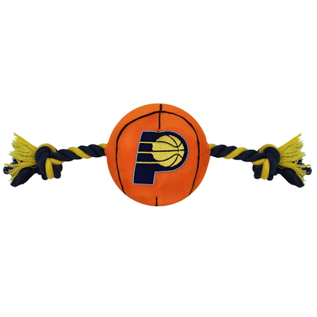 Pets First NBA Indiana Pacers Nylon Basketball Rope Toy for Dogs, X-Large - Carousel image #1