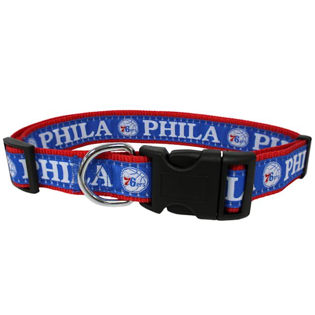 Pets First NBA 76ERS Dog Collar, Large - Carousel image #1
