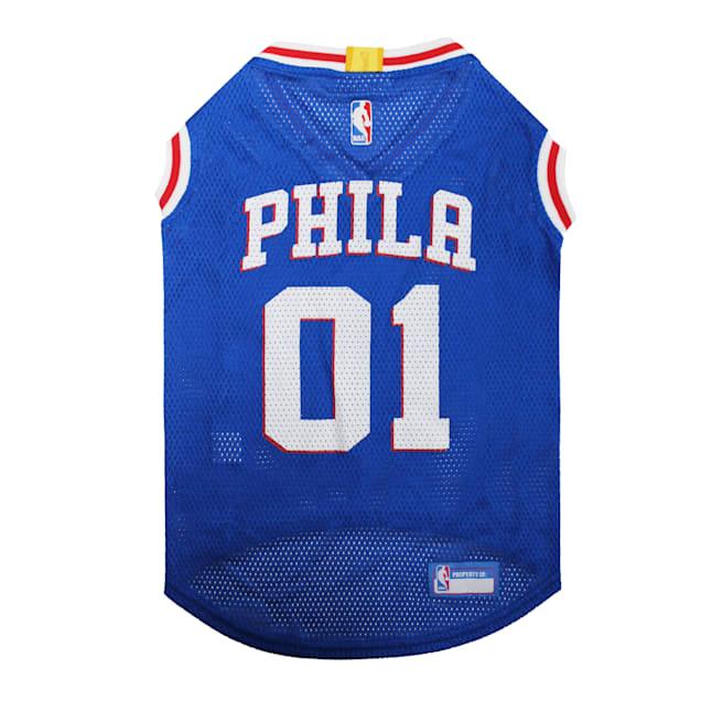 Pets First NBA 76ERS Basketball Mesh Dog Jersey, X-Large - Carousel image #1