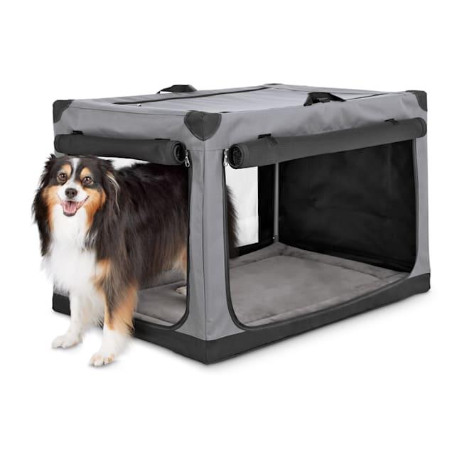 "Animaze Portable Canvas Dark Grey Dog Crate, 36"" - Carousel image #1"