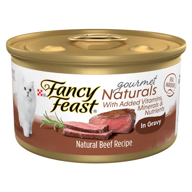 Fancy Feast Gourmet Naturals Beef Recipe in Gravy Wet Cat Food, 3 oz., Case of 12 - Carousel image #1