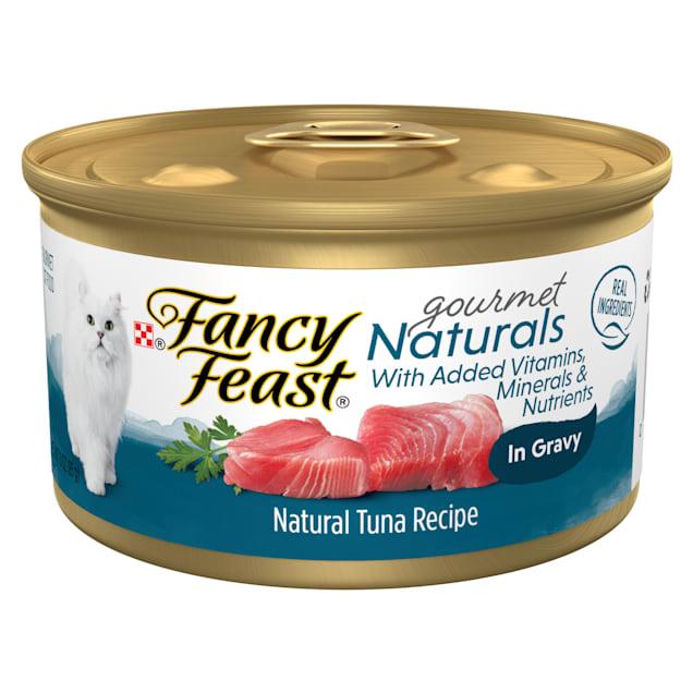 Fancy Feast Gourmet Naturals Tuna Recipe in Gravy Wet Cat Food, 3 oz., Case of 12 - Carousel image #1