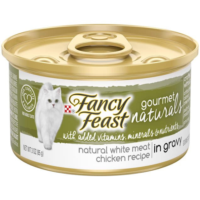 Fancy Feast Gourmet Naturals White Meat Chicken Recipe in Gravy Wet Cat Food, 3 oz., Case of 12 - Carousel image #1