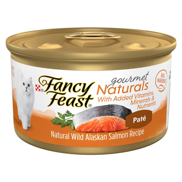 Fancy Feast Gourmet Naturals Wild Alaskan Salmon Recipe Pate Wet Cat Food, 3 oz., Case of 12 - Carousel image #1