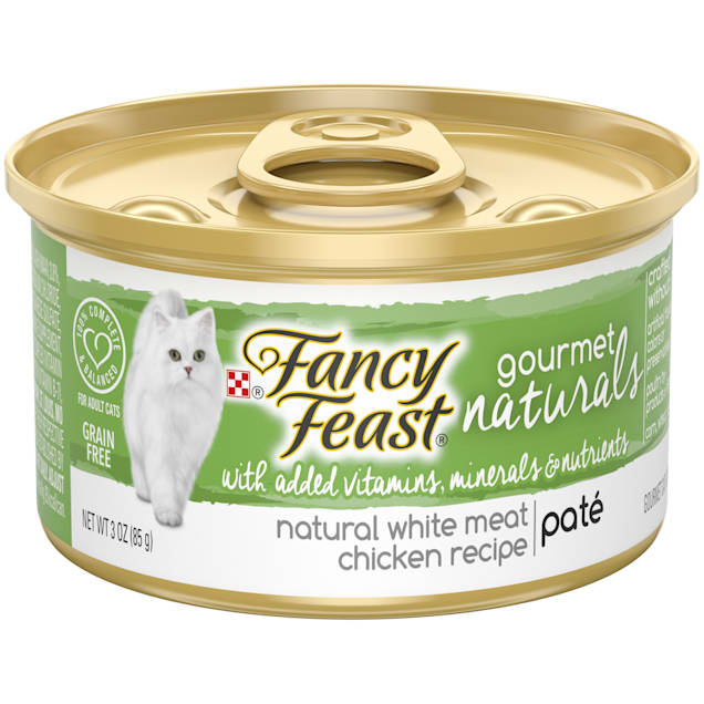 Fancy Feast Gourmet Naturals Grain Free, Natural Pate White Meat Chicken Recipe Wet Cat Food, 3 oz. - Carousel image #1