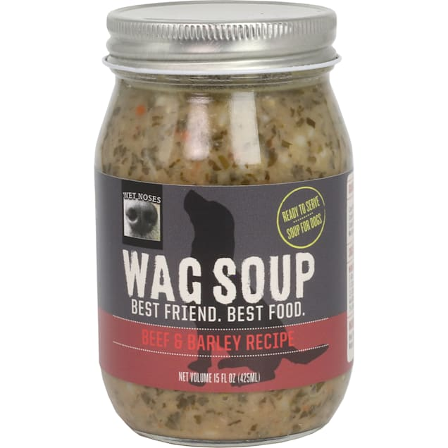 Wet Noses Wag Soup Beef and Barley Wet Dog Food, 15 oz. - Carousel image #1