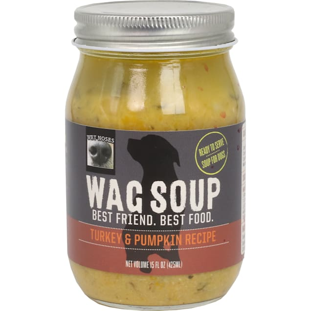 Wet Noses Wag Soup Turkey and Pumpkin Wet Dog Food, 15 oz. - Carousel image #1