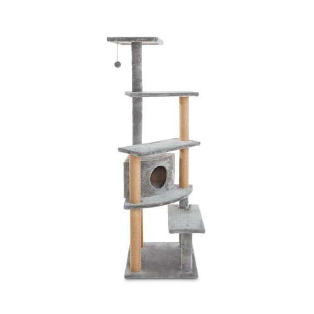 "Animaze 5-Level Grey Cat Tree with Condo, 63"" H - Carousel image #1"