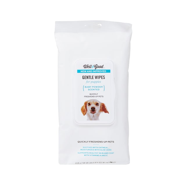 Well & Good Gentle Puppy Grooming Wipes, Pack of 24 - Carousel image #1