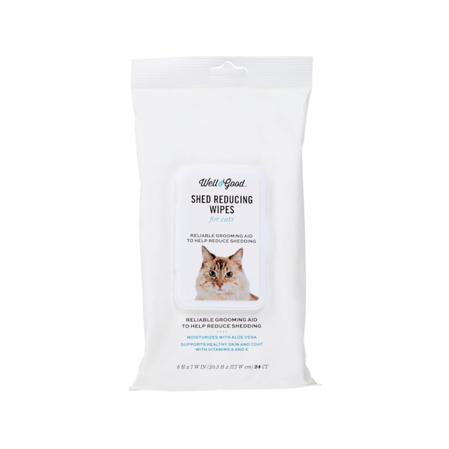 Well & Good Shed Reducing Cat Wipes, Pack of 24 - Carousel image #1