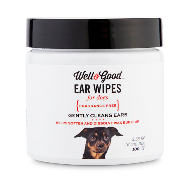 Well & Good Small Dog Ear Wipes, Pack of 100 - Carousel image #1