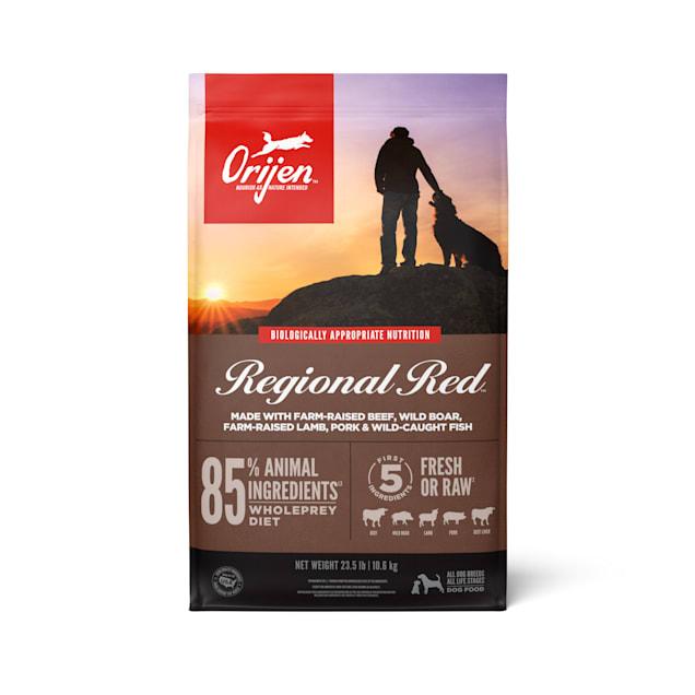 ORIJEN Regional Red Grain Free & Poultry Free High Protein Fresh & Raw Animal Ingredients Dry Dog Food, 25 lbs. - Carousel image #1