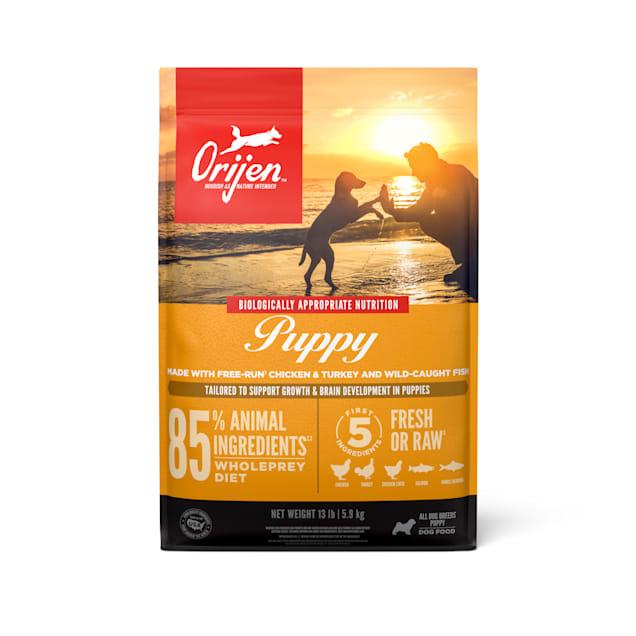 ORIJEN Grain Free High Protein Fresh & Raw Animal Ingredients Dry Puppy Food, 13 lbs. - Carousel image #1