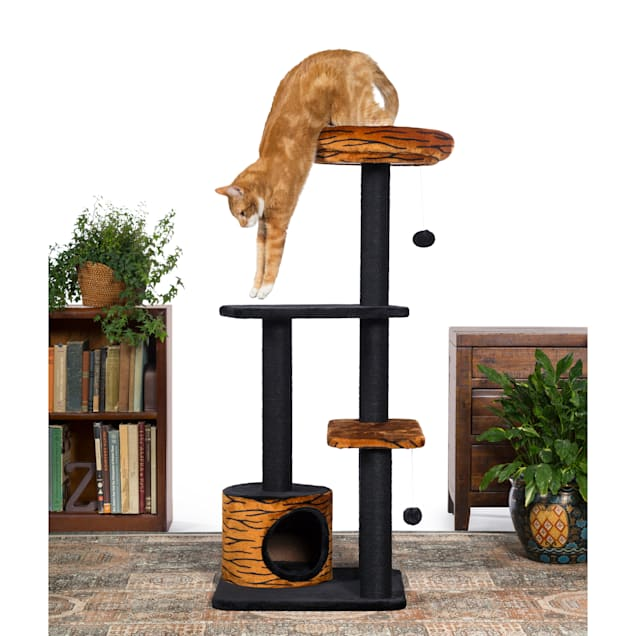 "Prevue Pet Products Kitty Power Paws Tiger Tower 7303, 13"" W X 20.25"" H - Carousel image #1"