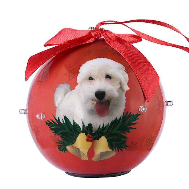 CueCuePet Westie Dog Collection Twinkling Lights Christmas Ball Ornament, Medium - Carousel image #1