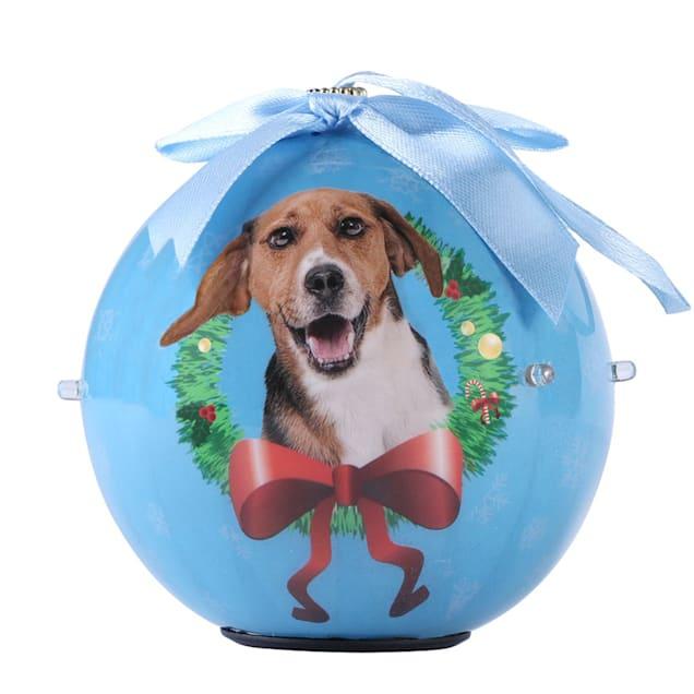 CueCuePet Beagle Dog Collection Twinkling Lights Christmas Ball Ornament, Medium - Carousel image #1