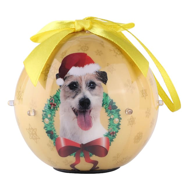 CueCuePet Jack Russell Dog Collection Twinkling Lights Christmas Ball Ornament, Medium - Carousel image #1