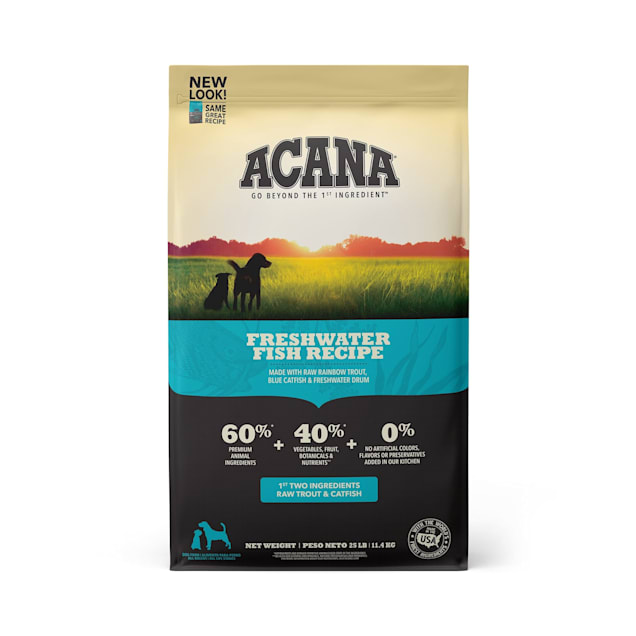 ACANA Grain-Free Freshwater Fish Whole Trout Catfish and Perch Dry Dog Food, 25 lbs. - Carousel image #1