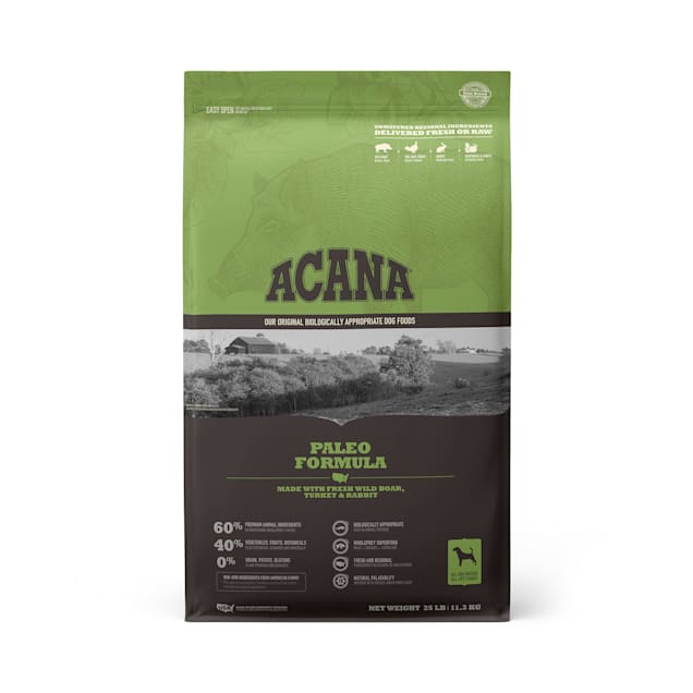 ACANA Grain-Free Paleo Boar Turkey and Rabbit Dry Dog Food, 25 lbs. - Carousel image #1