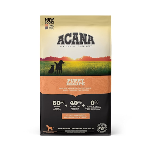 ACANA Grain-Free Chicken Turkey Fish Cage-Free Eggs Dry Puppy Food, 25 lbs. - Carousel image #1