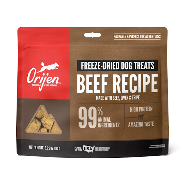 ORIJEN Freeze-Dried Angus Beef Dog Treats, 3.25 oz. - Carousel image #1