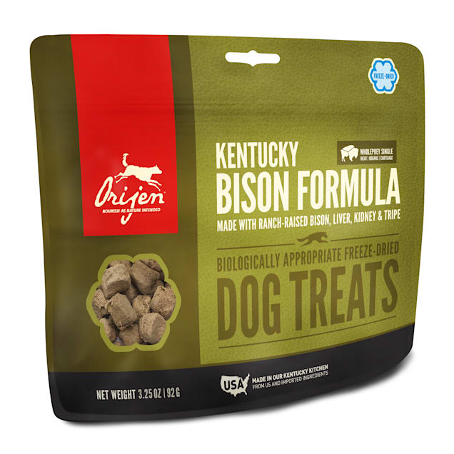 ORIJEN Freeze-Dried Kentucky Bison Dog Treats, 3.25 oz. - Carousel image #1