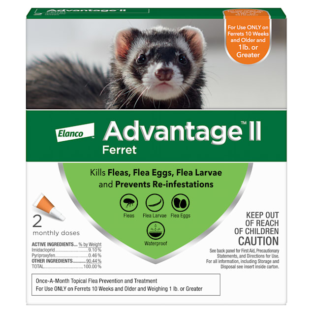 Advantage II Once-A-Month Topical Ferret, Pack of 2 - Carousel image #1