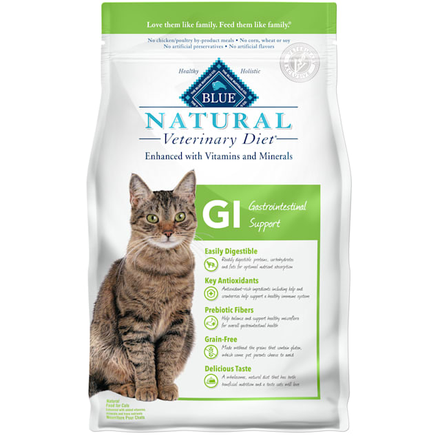 Blue Buffalo Natural Veterinary Diet GI Gastrointestinal Support Dry Cat Food, 7 lbs. - Carousel image #1