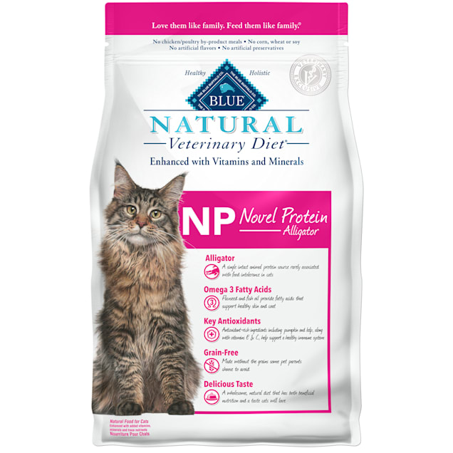Blue Buffalo Natural Veterinary Diet NP Novel Protein-Alligator Dry Cat Food, 7 lbs. - Carousel image #1