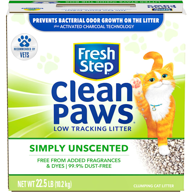 Fresh Step Clean Paws Simply Unscented Clumping Cat Litter, 22.5 lbs. - Carousel image #1