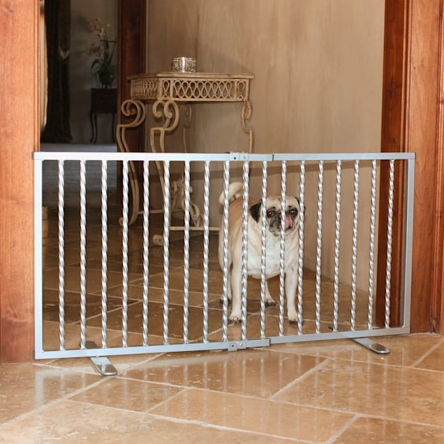 """Cardinal Gates Wrought Iron Step Over Pewter Gate for Dogs, 41.25"""" L X 2"""" W X 20"""" H - Carousel image #1"""