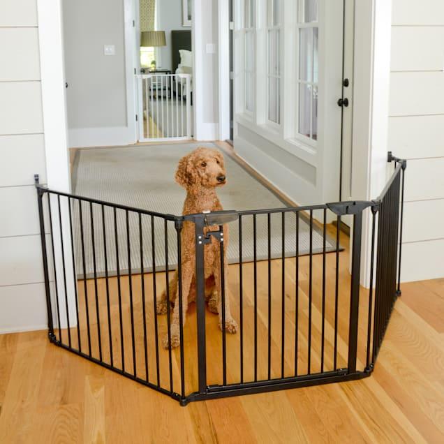 "Cardinal Gates Extra Wide Expandable Black Pet Gate, 100"" L X 2"" W X 29.5"" W - Carousel image #1"