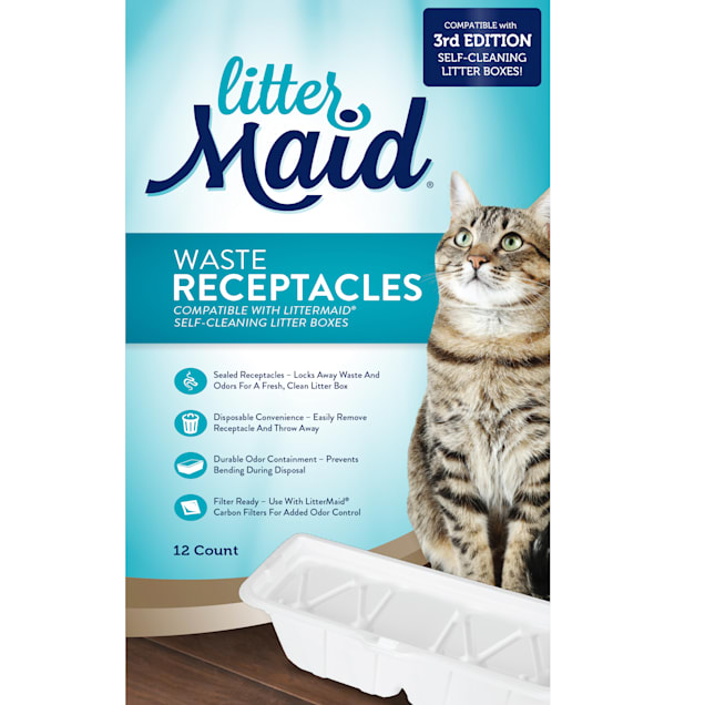 LitterMaid 3rd Edition Waste Receptacles for Cats, Count of 12 - Carousel image #1