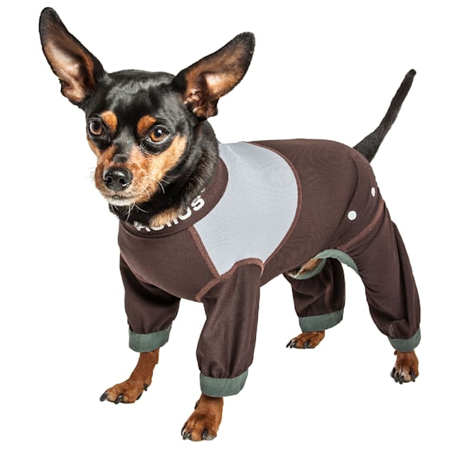 Dog Helios Tail Runner Lightweight Brown Dog Track Suit, X-Small - Carousel image #1