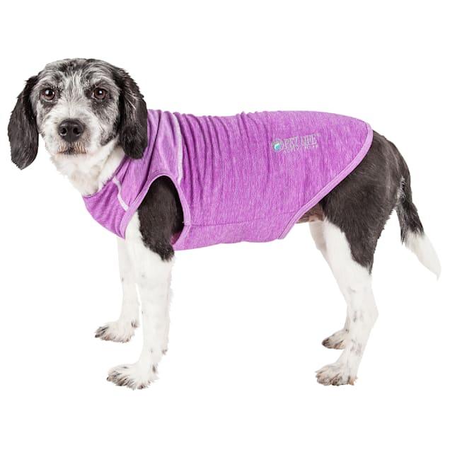 Pet Life Active Aero-Pawlse Heathered Purple Quick-Dry Dog Tank Top T-Shirt, X-Small - Carousel image #1