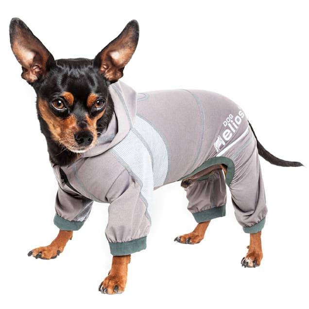 Dog Helios Namastail Lightweight Grey Dog Hoodie Tracksuit, X-Small - Carousel image #1