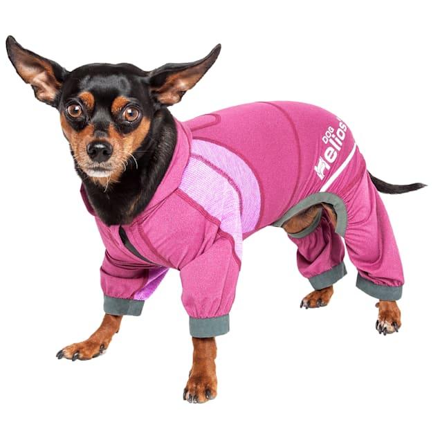 Dog Helios Namastail Lightweight Pink Dog Hoodie Tracksuit, X-Small - Carousel image #1