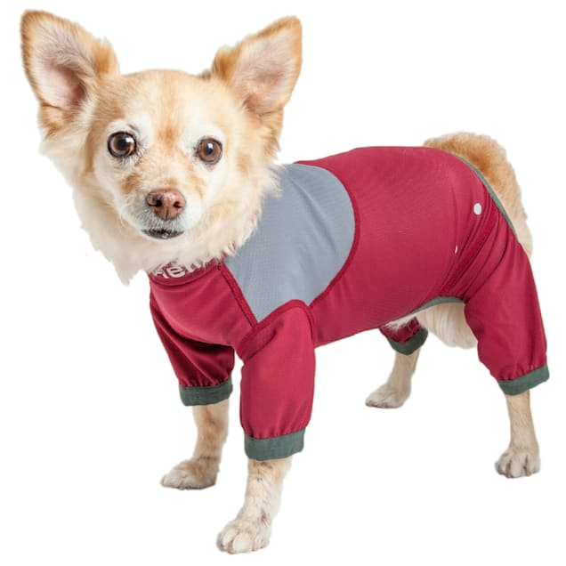 Dog Helios Tail Runner Lightweight Red Dog Track Suit, X-Small - Carousel image #1